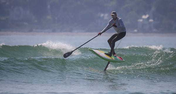 individual in action in sup foil